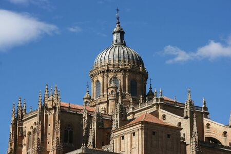 salamanca: Dome of Salamanca new cathedral. Beautiful sandstone architecture. Gothic and baroque styles.