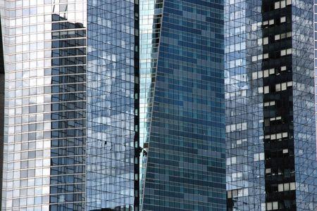 highriser: Skyscraper walls and windows - abstract photo of La Defense, Paris, France