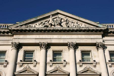 eire: Beautiful old building in Irish capital city - Dublin, Eire Stock Photo