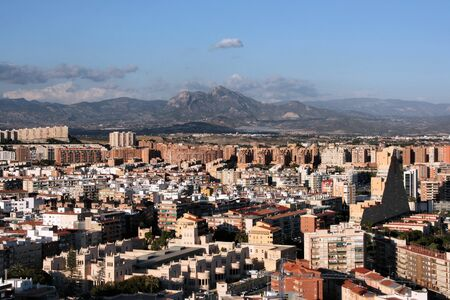 Cityscape of Alicante, Comunidad Valenciana, Spain. Seen from Saint Barbara Castle. Stock Photo - 3980405