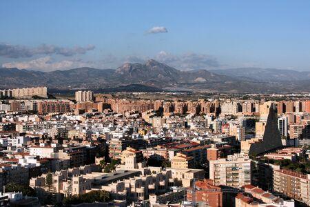 Cityscape of Alicante, Comunidad Valenciana, Spain. Seen from Saint Barbara Castle. Stock Photo - 3980405