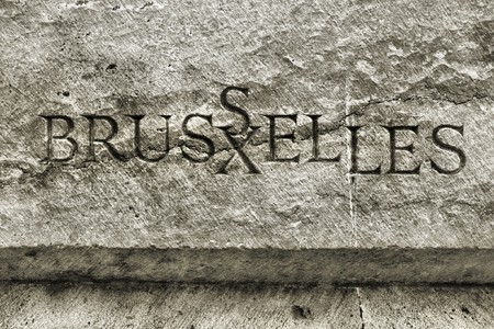bruxelles: Bruxelles - name of Belgian city carved in stone