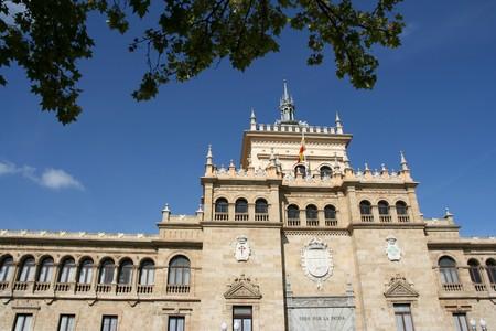 academia: The Academia de Caballeria (Cavalry Academy) faces the Plaza Zorrilla near the Campo Grande in Valladolid, Spain