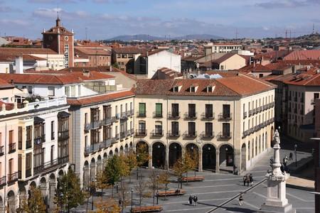 avila: Plaza Santa Teresa (Saint Theresa Square) in Avila, Castilla, Spain. Seen from Medieval city walls.