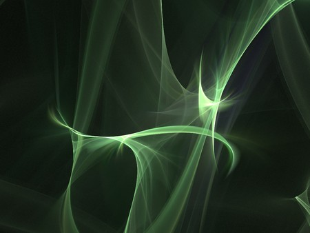 smoothness: Graphics texture. Computer rendered background. 3D fractal. Green soft abstract. Stock Photo
