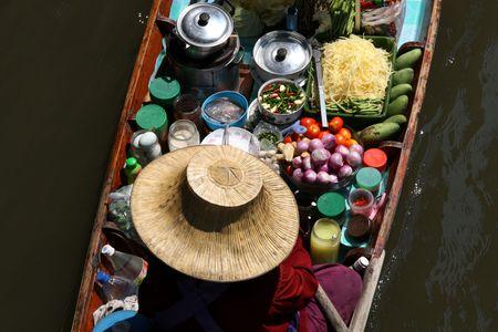 Famous Floating Market in Thailand. Damnoen Saduak near Bangkok. Stock Photo - 4685418