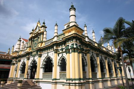 Masjid Abdul Gaffoor in Singapore. Beautiful mosque. Little India area.