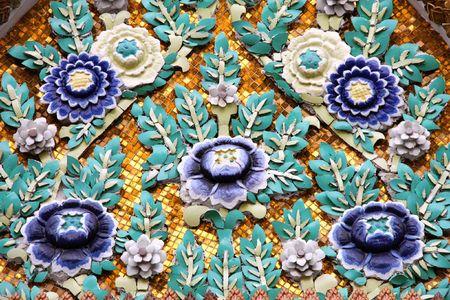 Decoration of Grand Palace in Bangkok, Thailand photo