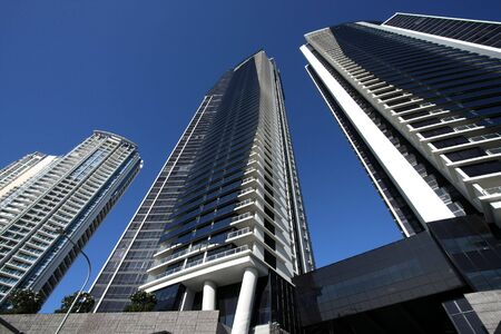 qld: Huge skyscrapers in Surfers Paradise city in Gold Coast, QLD, Australia
