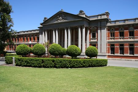 perth: Supreme Court of Western Australia in Perth. Old building. Stock Photo