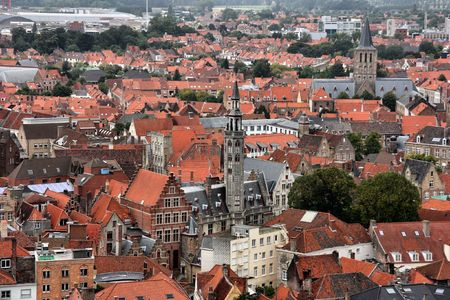 benelux: Bruges cityscape, as seen from the Belfry