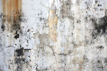 Grunge, cracked wall background. Old, peeling paint, dirty stains. Abstract texture.
