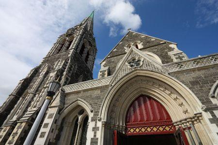 canterbury: La cath�drale anglicane de Christchurch � Christchurch, Canterbury, Nouvelle-Z�lande Banque d'images