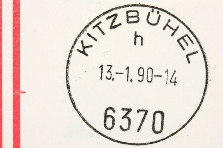 cancellation: Cancellation stamp from Kitzbuhel, Austria on a letter