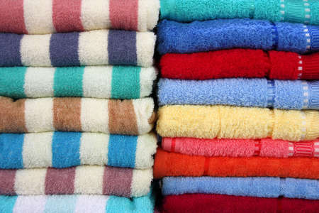 Colorful towels at a market place in Bangkok, Thailand Stock Photo - 4800420