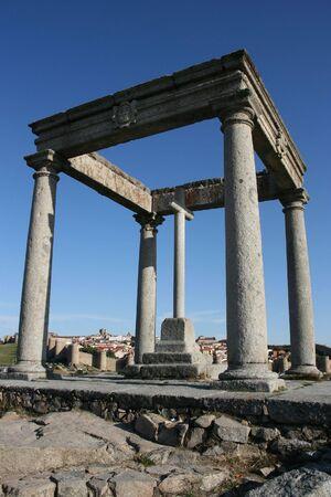 postes: Cuatro Postes - monument in Avila, Castilla, Spain Stock Photo