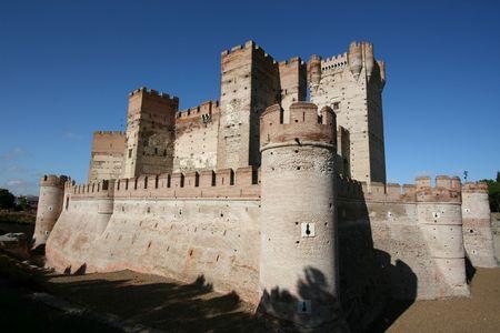 medieval castle: Castillo de la Mota - famous landmark in Medina del Campo, Castille, Spain