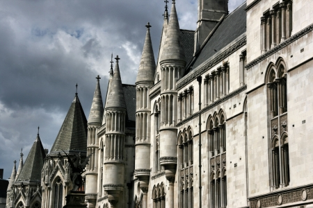 justice court: Famous building in London, UK: Royal Court of Justice