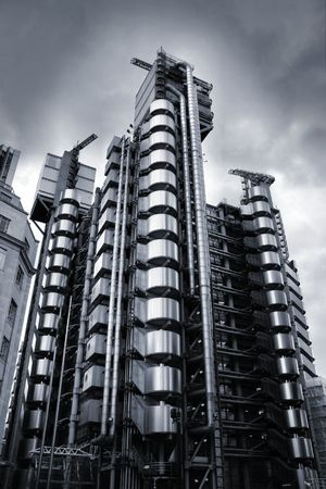 lloyds london: Skyscraper in London - ultramodern tower called Lloyds Building.
