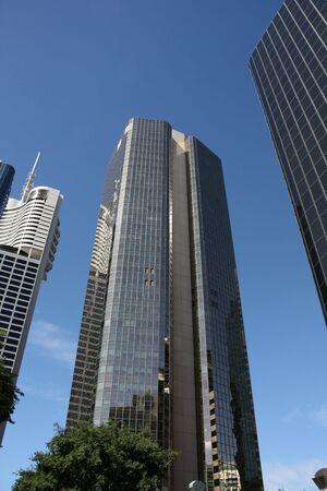 qld: Huge skyscrapers in Brisbane, QLD, Australia. Financial district.