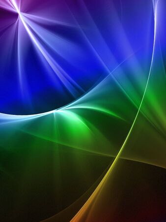 smoothness: Graphics texture. Computer rendered background. 3D fractal. Rainbow abstract.