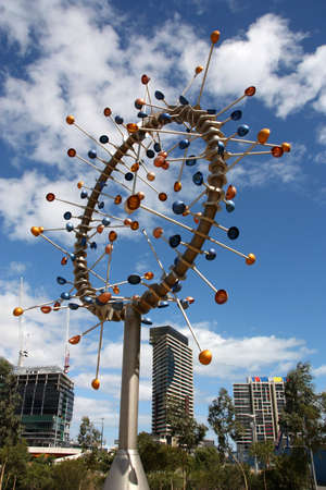 docklands: Amazing modern sculpture in the Docklands of Melbourne, Australia Stock Photo