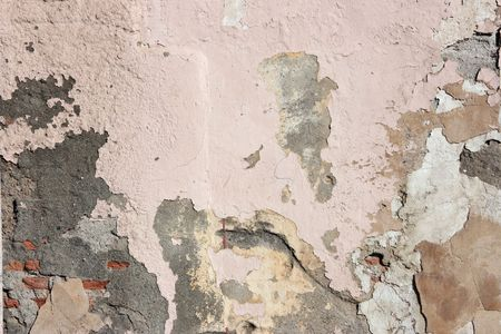 Grunge, cracked wall background. Old, peeling paint, dirty stains. Abstract texture. Stock Photo - 4894912