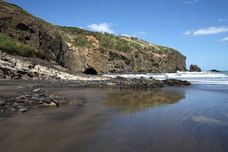 Te: Te Henga - Bethells Beach near Auckland, New Zealand. Tasman Sea.