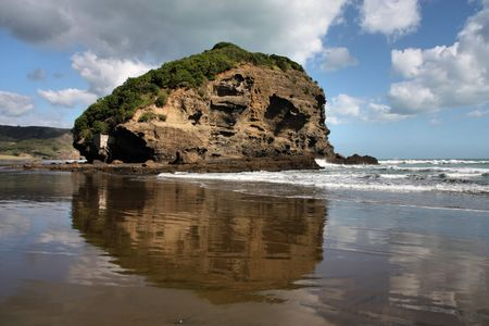 australasia: Te Henga - Bethells Beach near Auckland, New Zealand. Tasman Sea.