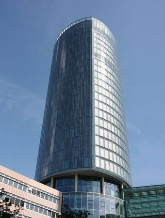 highriser: Modern skyscraper in Cologne, Germany - Koeln Triangle Stock Photo