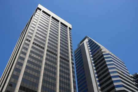 Skyscrapers in Perth CBD - modern business architecture. Stock Photo - 5017084