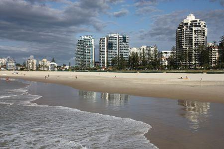 coolangatta: Greenmount beach in Coolangatta. Gold Coast region of Queensland, Australia. Stock Photo