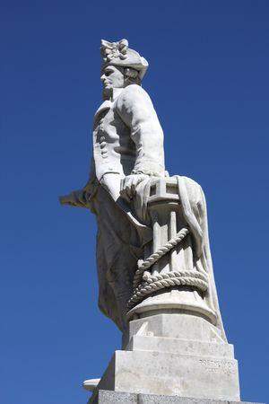 cartographer: James Cook - British explorer, navigator and cartographer, captain of Royal Navy. Statue in Christchurch, New Zealand.
