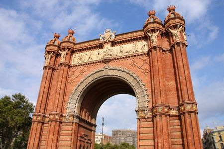 The Arc de Triomf (English: Triumphal Arch) - archway structure in Barcelona, Spain. photo