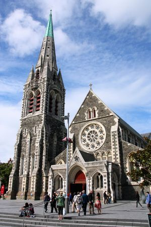 ChristChurch Anglican cathedral in Christchurch, Canterbury, New Zealand Stock Photo