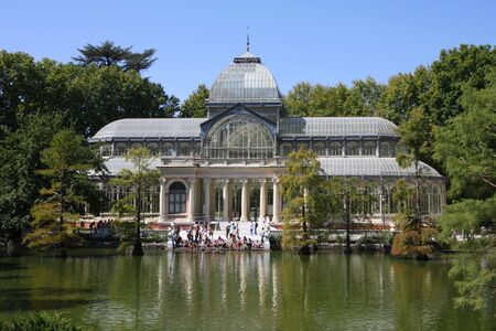 Crystal Palace (Palacio de Cristal) in Retiro Park (Parque del Buen Retiro) - Madrid, Spain photo