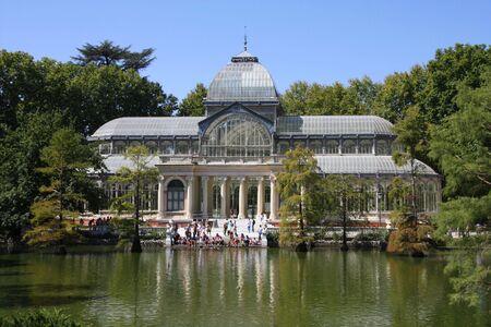 parque del buen retiro: Crystal Palace (Palacio de Cristal) in Retiro Park (Parque del Buen Retiro) - Madrid, Spain