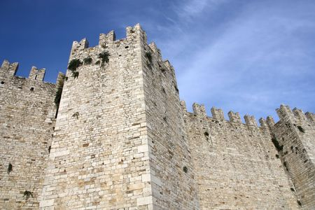 crenellated: Castello dellImperatore - Castle in Prato, Tuscany, Italy