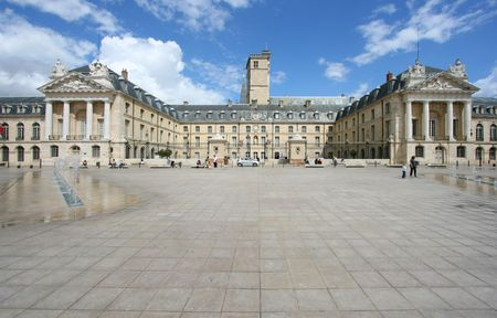 Liberation Square and the Palace of Dukes of Burgundy (Palais des ducs de Bourgogne) in Dijon, France. Beautiful town. Stock Photo - 5883048