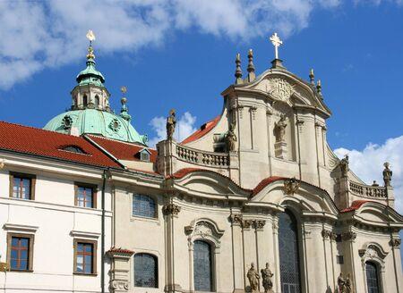St. Nicholas' church in Mala Strana part Prague, Czech Republic. Beautiful baroque architecture. Stock Photo - 5883061