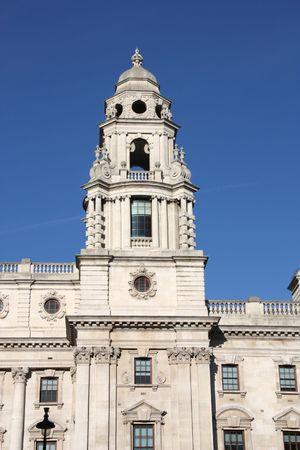 hm: HM Treasury or Her Majestys Treasury building in London, England Stock Photo