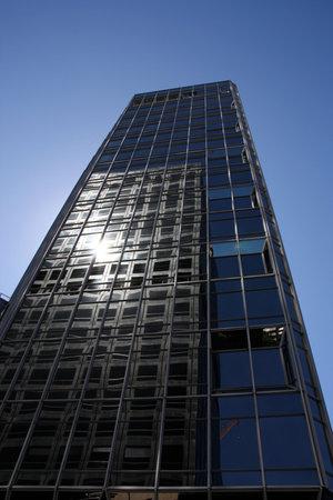 highriser: Skyscraper in financial district of Wellington, New Zealand Editorial