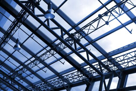 concourse: Modern architecture - glass roof structure in airport concourse interior Stock Photo