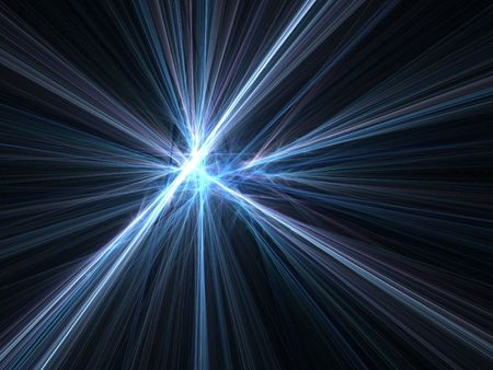 Graphics texture. Computer rendered background. 3D fractal. Light speed warp motion blur.