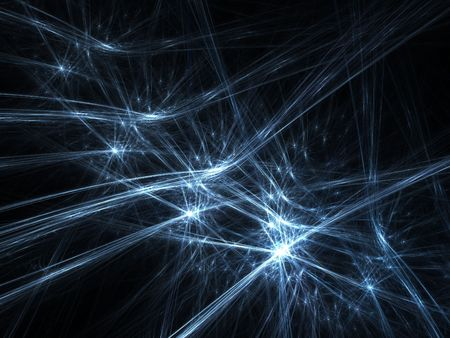 smoothness: Graphics texture. Computer rendered background. 3D fractal. Blue cold sparkles abstract. Stock Photo