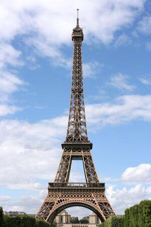 Eiffel Tower in Paris, France. Famous landmark. photo