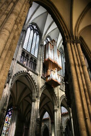 archbishop: Cologne cathedral of Saint Peter and Mary interior. Famous church. Seat of Archbishop. UNESCO World Heritage Site. Editorial