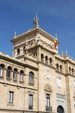 cavalry: The Academia de Caballeria (Cavalry Academy) faces the Plaza Zorrilla near the Campo Grande in Valladolid, Spain