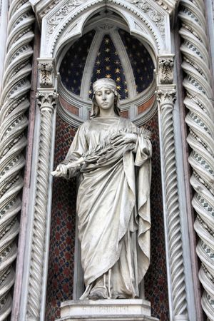 martyr: Saint Reparata the Martyr - sculpture in the facade of Florence Cathedral