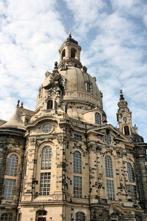 frauenkirche: Frauenkirche - wundersch�ne Kirche in Dresden, Sachsen, Deutschland.